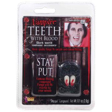 Hallowen Vampire Teeth with Blood