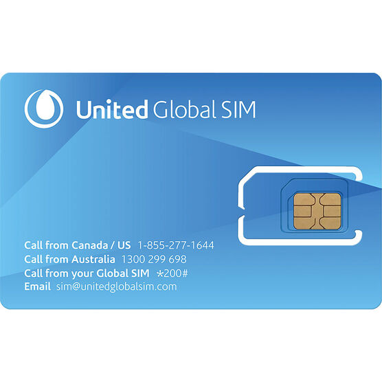 United Global SIM Card - 3-in-1 - 52015