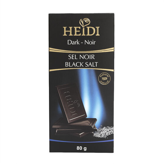Heidi Dark Chocolate Tablet - Black Salt - 80g