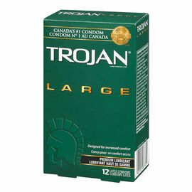 Trojan Large Lubricated Condoms - 12's