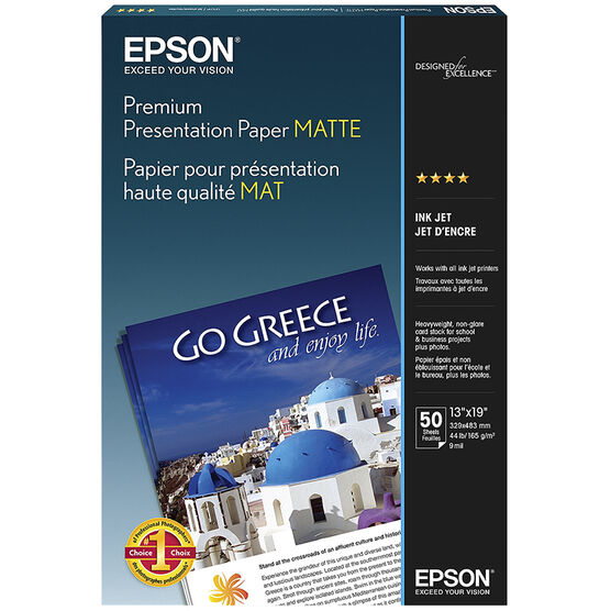 Epson Premium Presentation Paper - Matte - 50 sheets - 13 x 19-inch - S041263