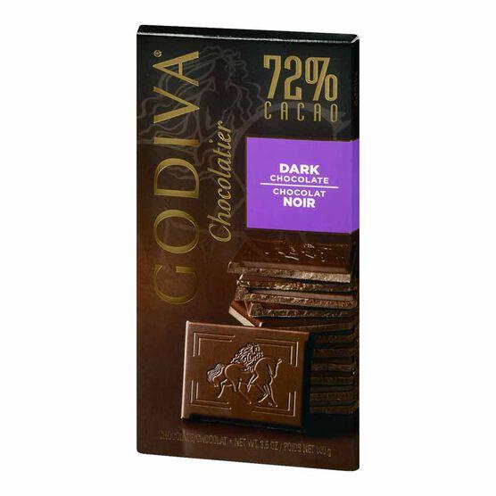 Godiva 72% Dark Chocolate Bar - 100g