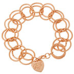 Betsey Johnson Circle Link Bracelet - Rose Gold Tone