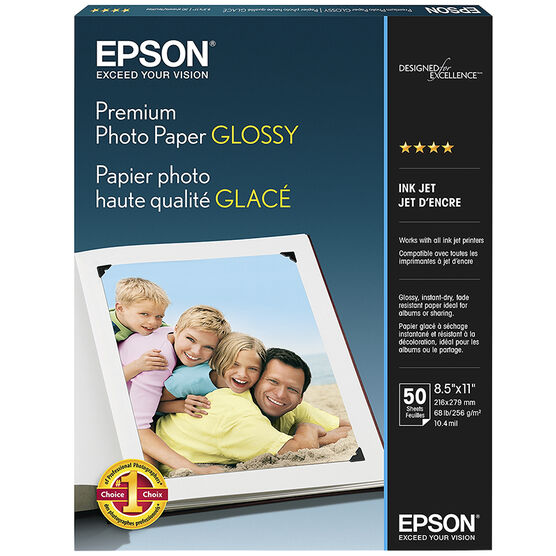 Epson Premium Photo Paper Glossy - 8.5 x 11 inch - 50 sheets - S041667