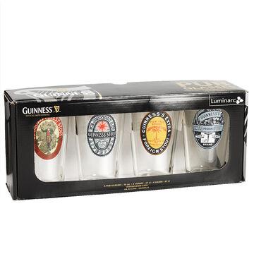 Guinness Vintage Pub Glasses - 16oz - Set of 4 - Assorted