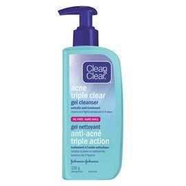 Clean & Clear Acne Triple Clear Gel Cleanser - 226g