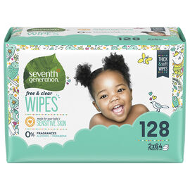 Seventh Generation Baby Wipes - 128's