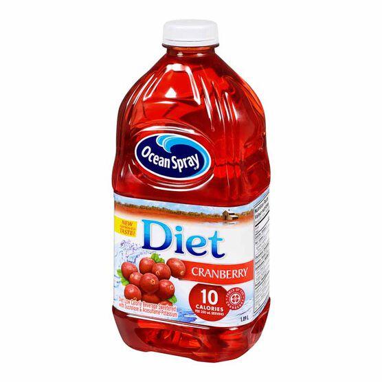 Ocean Spray Diet Cranberry Low Calorie Beverage - 1.89L