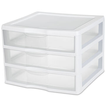 Sterilite ClearView™ Wide 3 Storage Unit