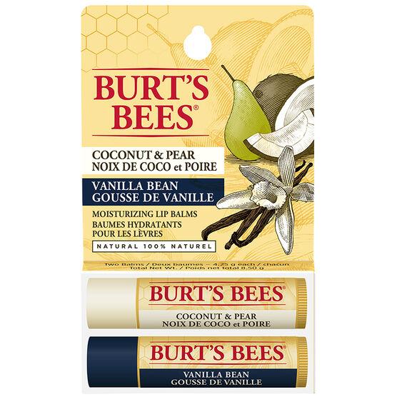 Burt's Bees Moisturizing Lip Balm - Coconut Pear & Vanilla Bean - 2 x 4.25g