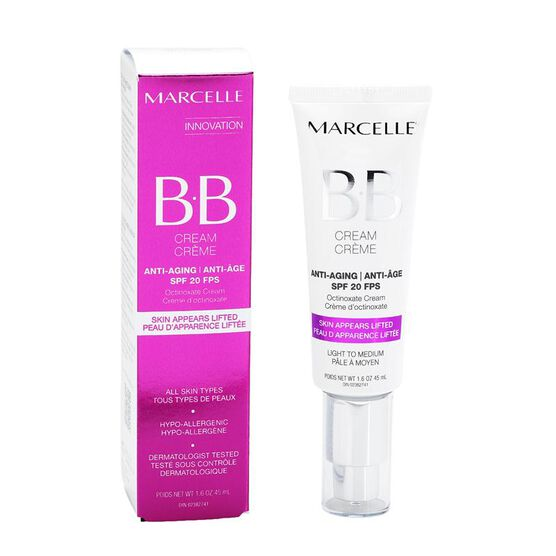 Marcelle BB Cream Anti-Aging SPF 20 - Light to Medium - 45ml