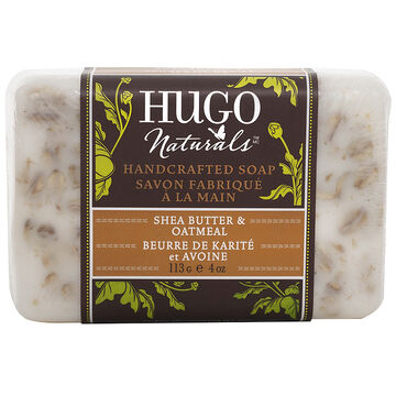 Hugo Naturals Hand Crafted Bar Soap - Shea Butter & Oatmeal - 113g