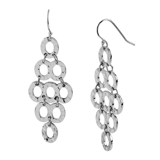 Haskell Silver Chandelier Hook Earrings