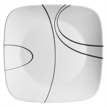 Corelle Square Simple Lines Plate - 10.25inch
