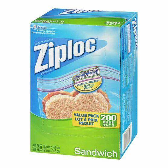 Ziploc Sandwich Bags - 200's