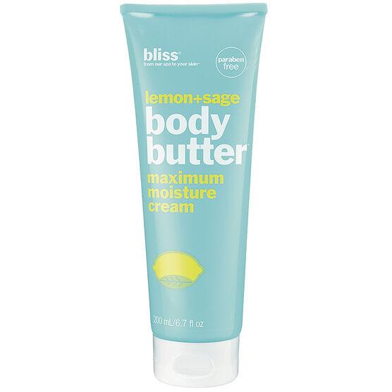 Bliss Lemon + Sage Body Butter Maximum Moisture Cream - 200ml