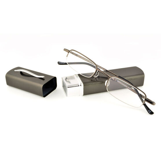 Foster Grant Lexington Reading Glasses - Gunmetal - 2.00