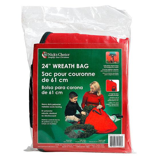 Christmas Wreath Storage Bag - 24-inch