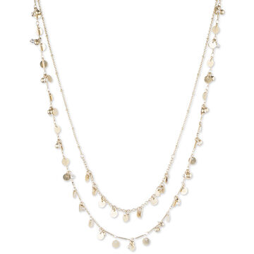 Lonna & Lilly 2 Row 16-inch Shaky Necklace - Gold Tone