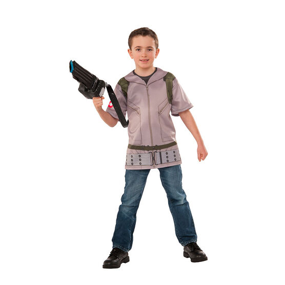 Halloween Ghostbuster T-shirt Costume - Kid's