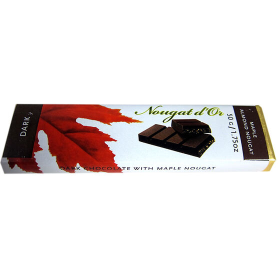 Golden Bonbon Dark Chocolate Bar with Crunchy Maple Nougat - 50g