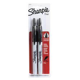 Sharpie Fine Point Retractable - Black - 2 pack