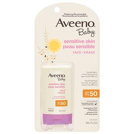 Aveeno Baby Sensitive Skin Sunscreen Stick for Face - SPF50 - 14g