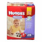 Huggies Little Movers Disposable Diaper - Size 3 - 28's