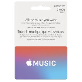 Apple Music Fast Card - 3 Month