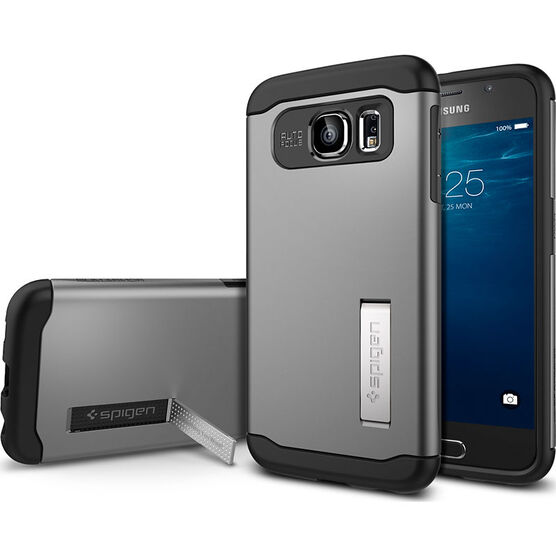 Spigen Slim Armor Case for Samsung Galaxy S6 - Gunmetal - SGP11330