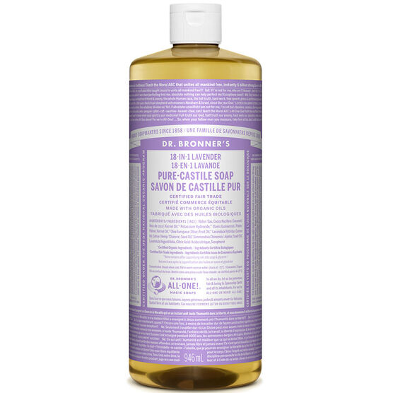 Dr. Bronner's Liquid Pure-Castile Soap - Lavender - 944ml