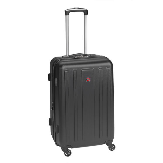 "SwissGear La Sarinne Lite Collection 24"" Hardside Luggage - Black"