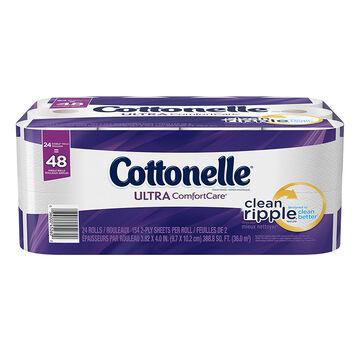 Cottonelle Ultra Comfort Care Bathroom Tissue - 24's/Double Rolls