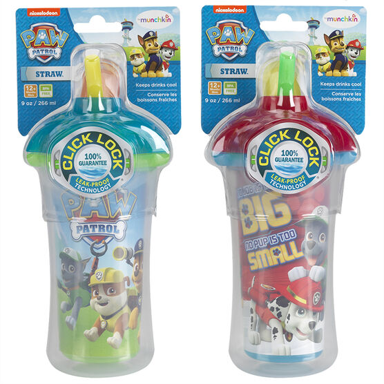 Munchkin PAW Patrol Click Lock Insulated Straw Cup - 9oz - 15963 - Assorted