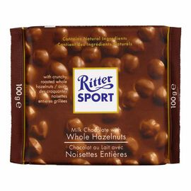 Ritter Sport - Milk Chocolate with Whole Hazelnuts - 100g