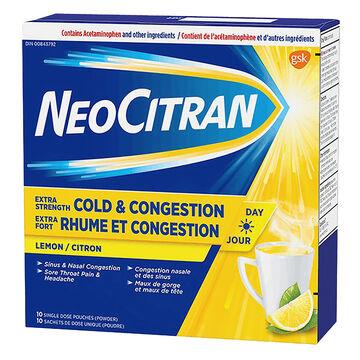 NeoCitran Extra Strength Cold & Sinus Non-Drowsy - Lemon - 10's