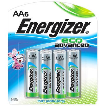 Energizer Eco Advanced Battery - AA - 6 pack