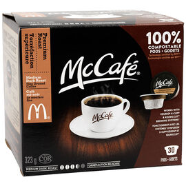 McCafe Single Serve Coffee - Medium Dark Roast - 30 Servings