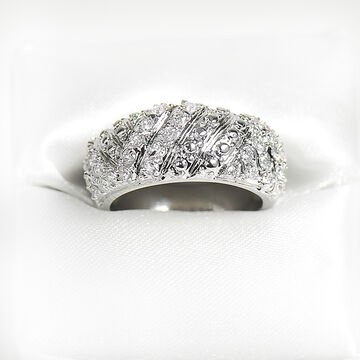 Marca Clear Crystal Ring - Size 9
