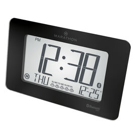 Marathon Atomic Blue Tooth Clock - Black - CL800004BG