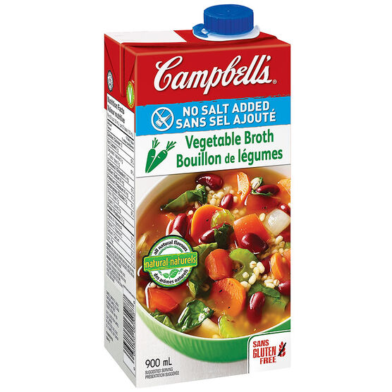 Campbell's Vegetable Broth - No Salt Added - 900ml