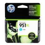 HP 951XL High Yield Officejet Ink Cartridge - Cyan - CN046AC#140