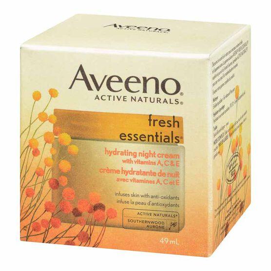 Aveeno Fresh Essentials Hydrating Night Cream - 49ml