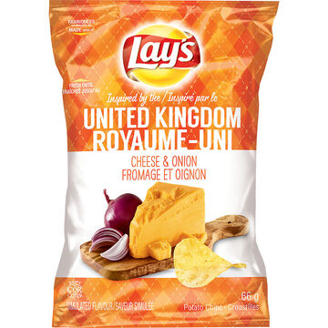Lays Potato Chips - Cheese & Onion - 66g