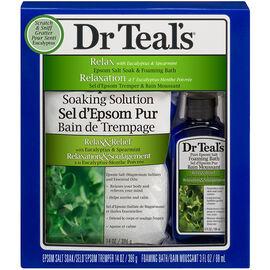 Dr Teal's Soothe & Sleep Epsom Salt & Foaming Bath - Lavender - 2 piece