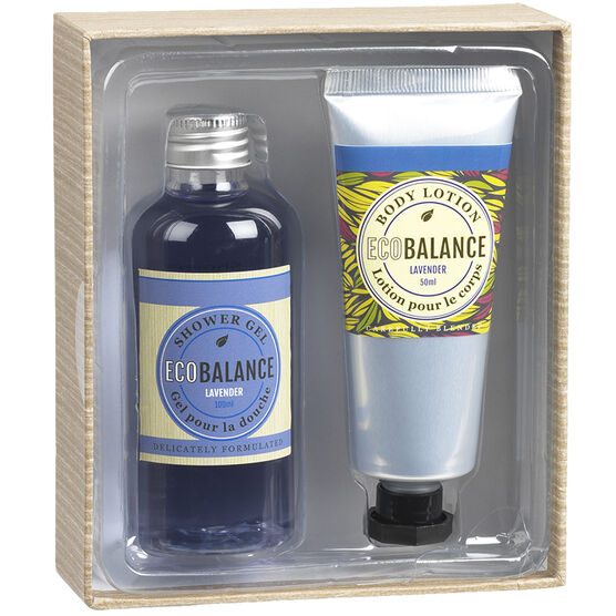 ECOBALANCE Bath Gift Box - Lavender - 2 piece