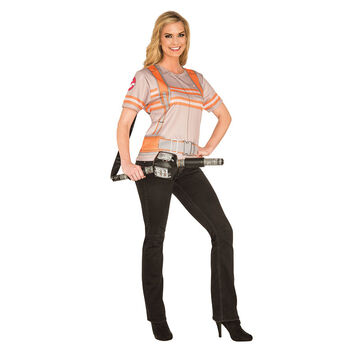 Halloween Ghostbuster T-shirt Costume - Ladies Small