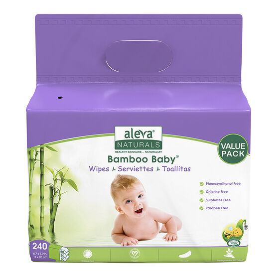 Bamboo Baby Wipes - 240's