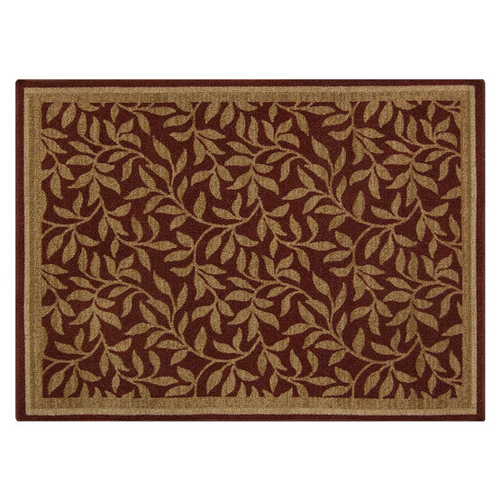Mutly Home Willow Indoor Mat - Merlot - 3x4 feet