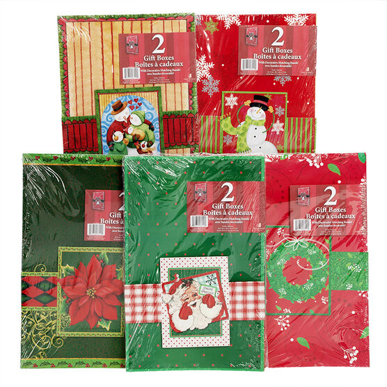 Christmas Folding Robe Gift Box - 2 Pack  - Assorted